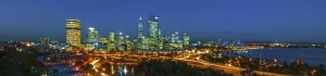 Perth city skyline Driving Lessons